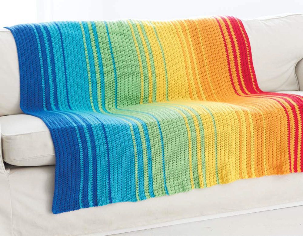 Spectrum Afghan In Caron Simply Soft And Simply Soft