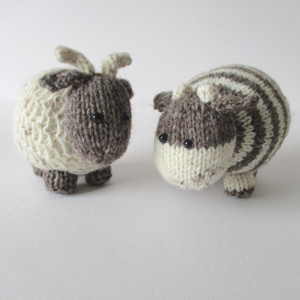Bramble goat and chestnut cow Knitting pattern by Amanda Berry ...