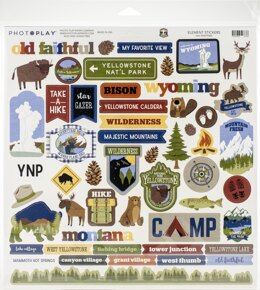 """Photoplay Paper PhotoPlay Collection Pack 12""""X12"""" - National Parks Yellowstone"""
