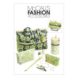 McCall's Project Tote, Organizer/Knitting Needle/Scissor Cases And Yarn Holder M6256 - Sewing Pattern