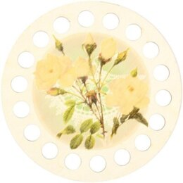 RTO Yarn Holder - Round Printed Cream Roses
