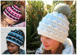 Colored Ponytail Hat