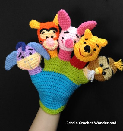 Winnie The Pooh Hand Puppet Crochet Project By Jessie Lin Lovecrafts