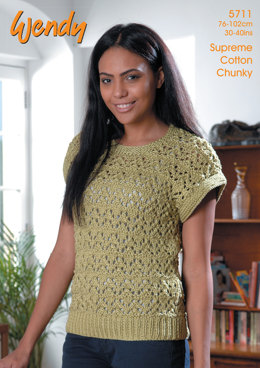 049ff3d0e Lacy Top in Wendy Supreme Cotton Chunky - 5711