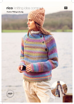 Women's Hat, Jumper and Scarves in Rico Creative Melange Chunky - 1051 - Downloadable PDF