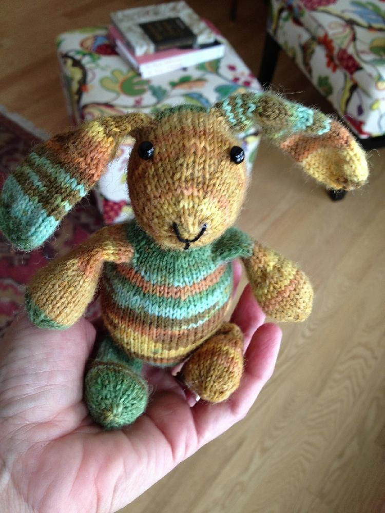 Mini Sock Yarn Bunny Knitting Pattern By Susan B Anderson