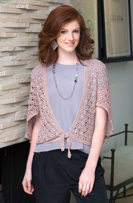 Flutter Cardigan in Aunt Lydia's Bamboo Crochet Thread- LC3976 - Downloadable PDF