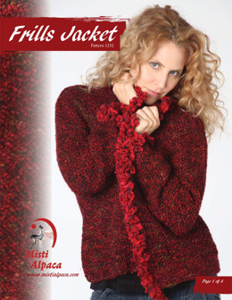 Frills Jacket in Misti Alpaca Ayllu Overdye Aran & Hand Paint Lace - 1232 - Downloadable PDF
