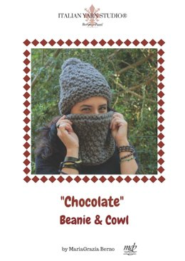 Chocolate Beanie and Cowl in Borgo de' Pazzi – Firenze Naturalia Alpaca - Downloadable PDF