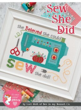 It's Sew Emma Sew She Did Cross Stitch Pattern - ISE-404 - Leaflet