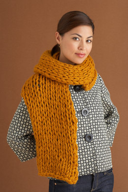 Fall River Scarf in Lion Brand Wool-Ease Thick & Quick - 70537AD