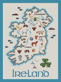 Sue Hillis Designs Ireland Map - C103 - Leaflet