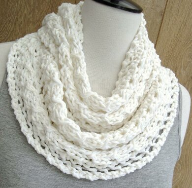 Spring Lace Infinity Scarf Knitting Pattern By Caroline Brooke