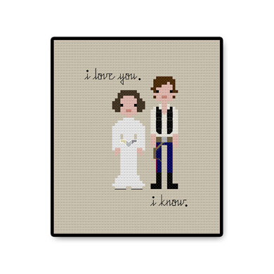 Han and Leia In Love - PDF Cross Stitch Pattern