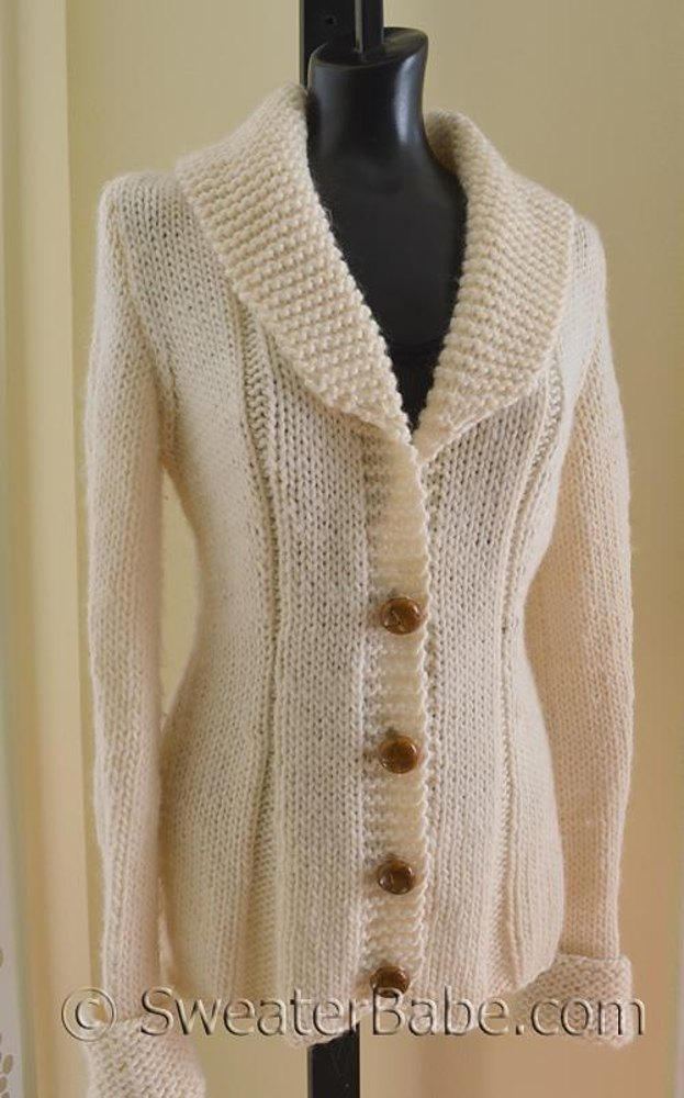63 Charming Shawl Collared Cardigan Knitting Pattern By