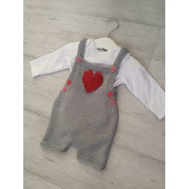 Baby Bib Short with Heart