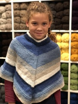 Girls Poncho in Plymouth Yarn Hot Cakes - F829 - Downloadable PDF