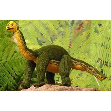 Brian the Brontosaurus toy knitting pattern