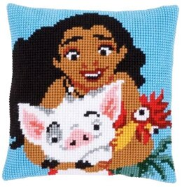 Vervaco Moana Cross Stitch Cushion Kit - 40cm x 40cm