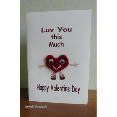 Valentine day card - Luv you this much