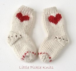 Little Heart Baby Socks