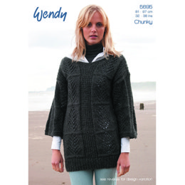 Leaf Tunic & Sweater in Wendy Norse Chunky 50g - 5695