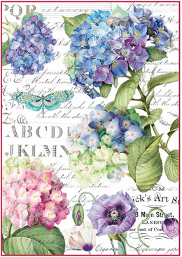Stamperia Intl Stamperia Rice Paper Sheet A4 - Hortensia & Dragonfly