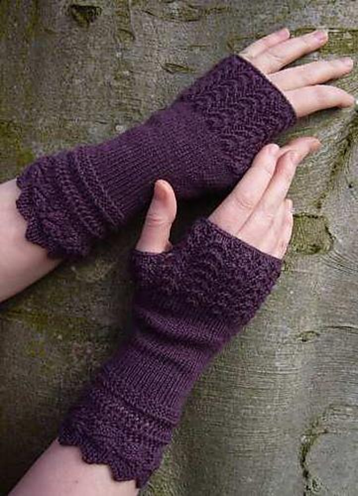 Belladonna Fingerless Gloves Knitting Pattern By Sally