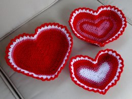 Heart Shaped Baskets Trio