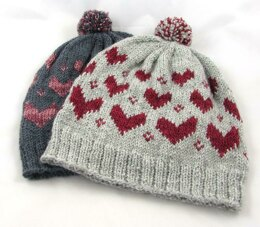 V is for Valentine Pom Pom Hat