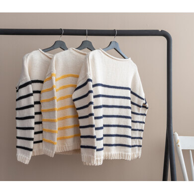 Striped Jumper in Yarn and Colors Epic - YAC100024 - Downloadable PDF