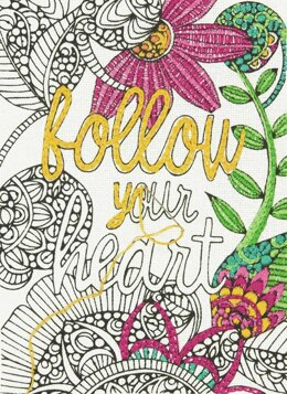 Dimensions Embroidery Kit: Follow Your Heart - 12 x 17cm