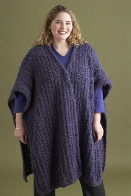 Crochet Urban Wrap in Lion Brand Homespun - 70678AD