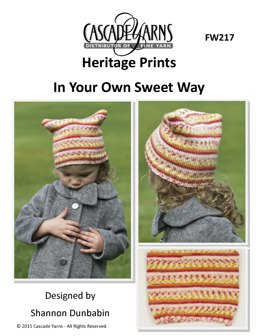 In Your Own Sweet Way in Cascade Yarns Heritage Prints - FW217 - Downloadable PDF