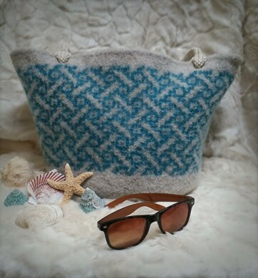 Sand and Sea Felted Tote