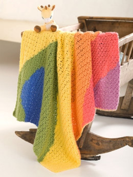 Baby Waves Blanket in Caron Simply Soft and Simply Soft Brites - Downloadable PDF