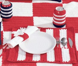 Roll and Go Placemats in Lily Sugar 'n Cream Solids