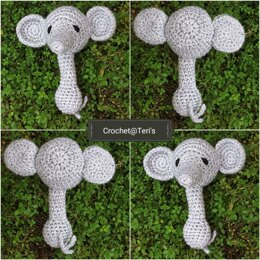 Amigurumi Elephant Rattle and Soother/Comforter