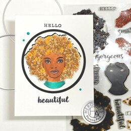 """Hero Arts Color Layering Clear Stamps 6""""X8"""" - Flower Power"""