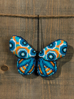 Permin Turquoise Butterfly Cross Stitch Kit