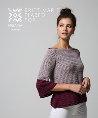 Britt-Marie Flared Top in MillaMia Naturally Soft Aran - Downloadable PDF