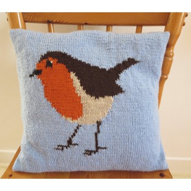 Robin Cushion Cover Knitting Pattern By Caroline Maxfield
