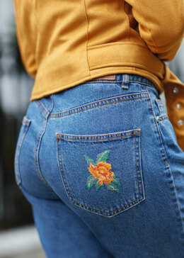5TH Avenue - Orange Rose Jeans in Anchor - Downloadable PDF