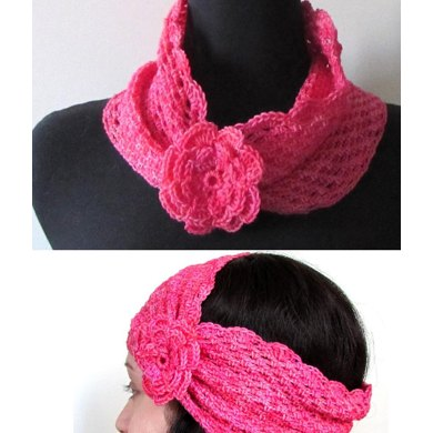 Mesh Cowl with Flower
