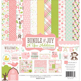 "Echo Park Paper Echo Park Collection Kit 12""X12"" - Bundle Of Joy/A New Addition - Baby Girl"