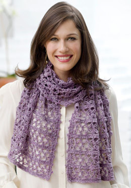 Beatrice Wrap in Red Heart Stardust - LW2885 - Downloadable PDF