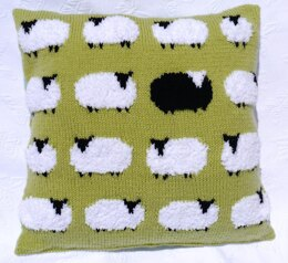 Flock of sheep cushion