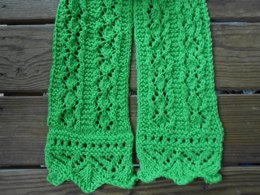 Spring Moss Lace Scarf or Shawl