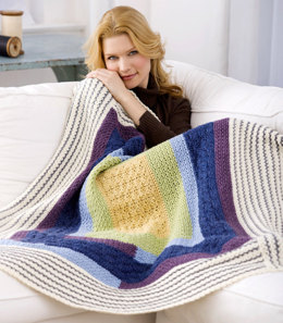 Dreamy Quilt Throw in Red Heart Eco-Ways - WR1829 - Downloadable PDF