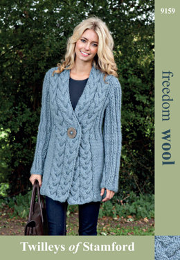 Cable Trim Jacket in Twilleys Freedom Wool - 9159